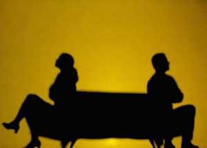 قهربودن زن و شوهر همراه با حرف زدن