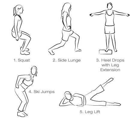 ورزش های کوچک کردن ران و باسن